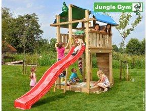 Jungle Fort veža s červenou šmýkačkou