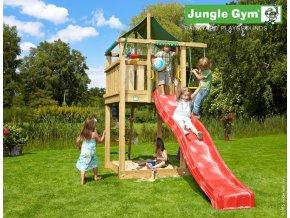 Jungle Lodge s červenou šmýkačkou